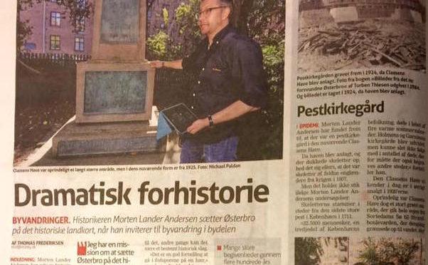 Omtale af mine byvandringer i Østerbro Avis