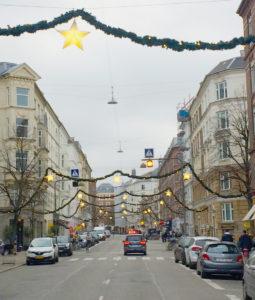 Nordre Frihavnsgade med julepynt